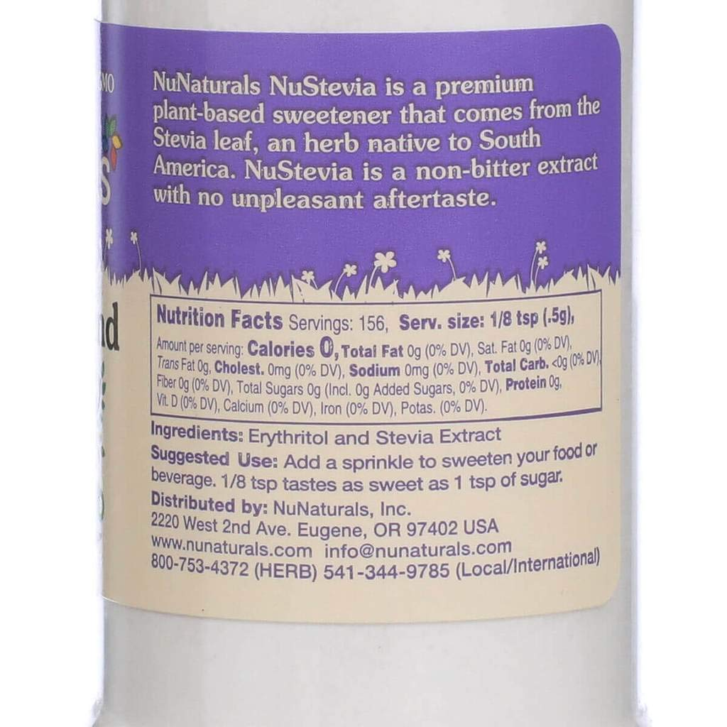 NuNaturals NoCarb Blend Powder All Purpose Natural Sweetener, Sugar-Free, Zero Calorie (2.75 oz) by NuNaturals (Image #4)