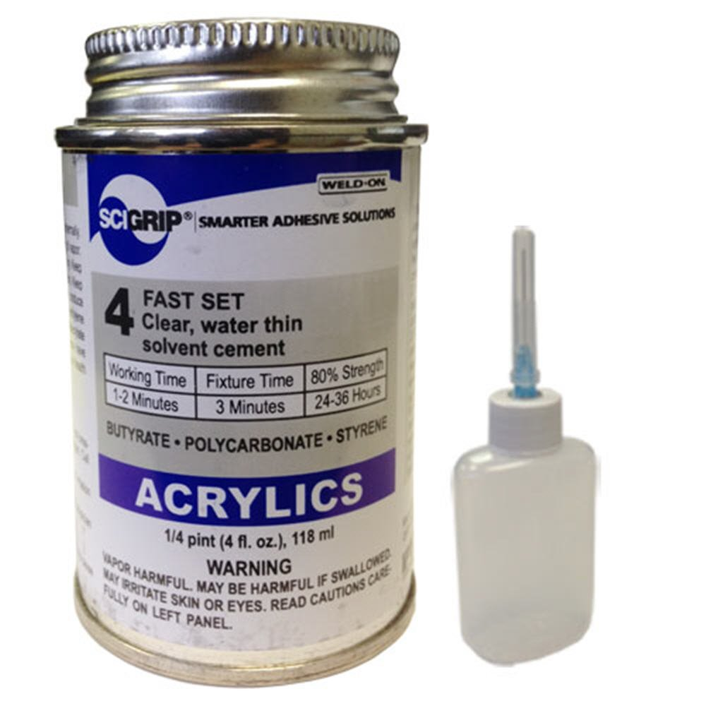 Weld-On 4 Acrylic Adhesive - 4 Oz and Weld-On Applicator Bottle ...