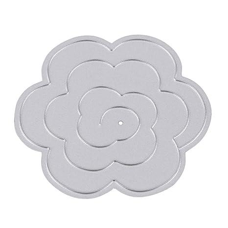 1 Pcs Molde de Corte de Metal en Relieve Forma de Flor para Álbum de Recortes