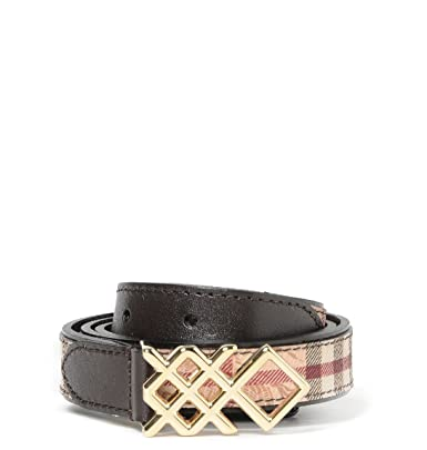 BURBERRY Femme 388521420 Marron Cuir Ceinture  Amazon.fr  Vêtements ... 5a6012477d4