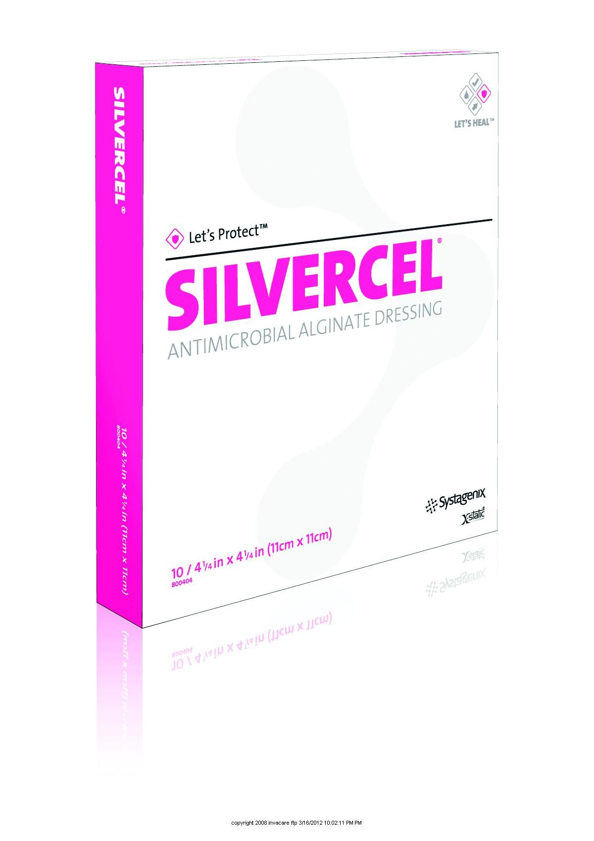 SILVERCEL Antimicrobial Alginate Dressing [SILVERCEL dressingNG 4X4] by SYSTAGENIX WOUND MNGMNT
