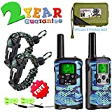 Walkie Talkies for Kids 22 Channel 2 Way Radio 3 Miles Long Range Handheld Walkie Talkies Durable Toy Best Birthday Gifts for 6 Year Old Boys and Girls fit Outdoor Adventure Game Camping (Blue Camo)