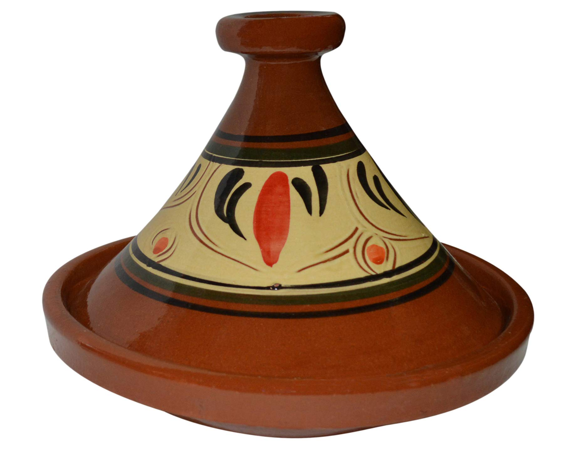 Moroccan Cooking Tagine Handmade 100% Lead Free Safe Large 12 inches Across Traditional by Cooking Tagines