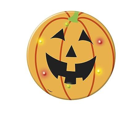 Blinking Happy Pumpkin Halloween Button