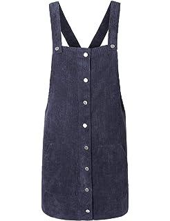 f9446ce42e makeitmint Women s Trendy Thin Corduroy Skirt Dress Overall Skirtall ...