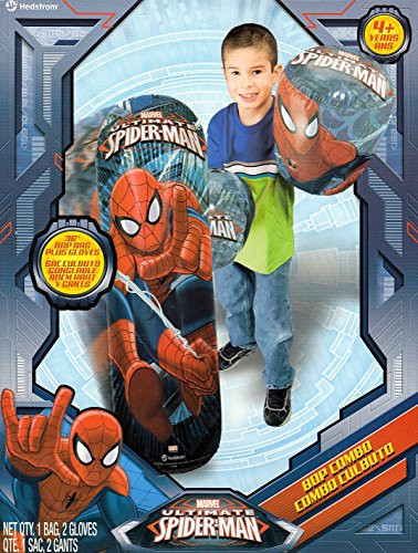 Ultimate Spider-Man Bop Combo: Bop Gloves & Bop Bag (Spider Bag Bop Man)