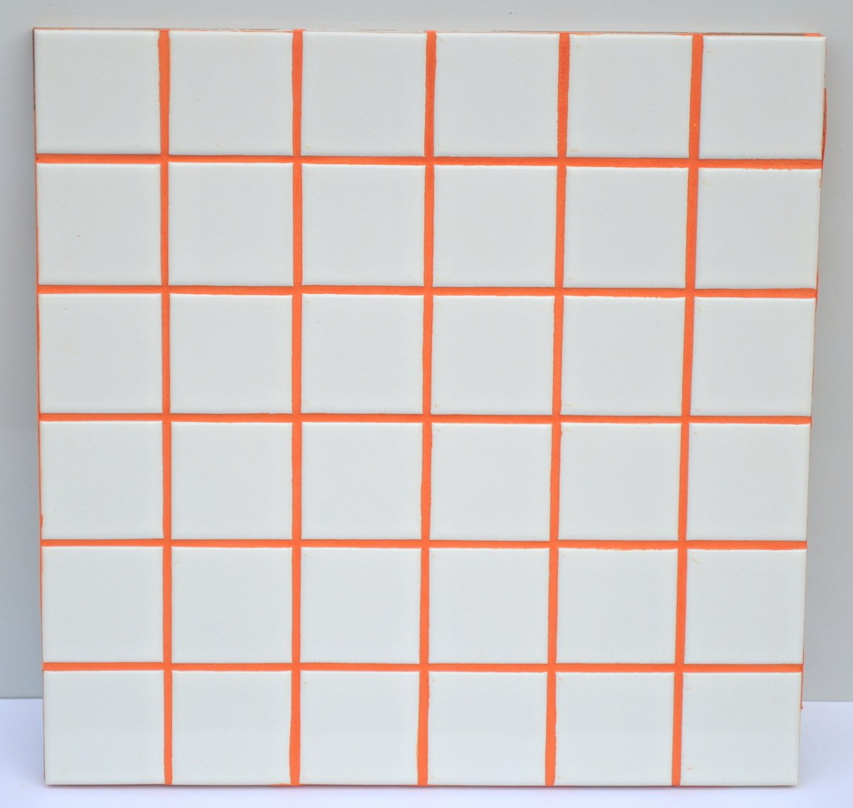 Electric Orange Sanded Tile Grout - 25 lbs