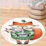 Best Tea Time Mouse Traps - VROSELV Custom carpetAnimal Decor Cute Little Fox Review