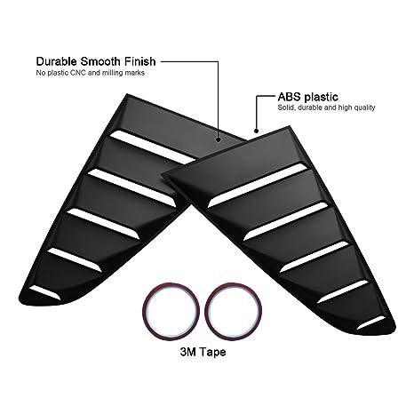 Amazon Com 4wdmuscle Matte Black Gt 5 Vents Style Quarter Side