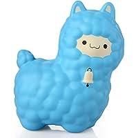 Firlar 16 CM Lente Rise Kawaii Moutons Jumbo Animal Doux Jouet pour Enfant Adulte Enfants Cadeau (Bleu)