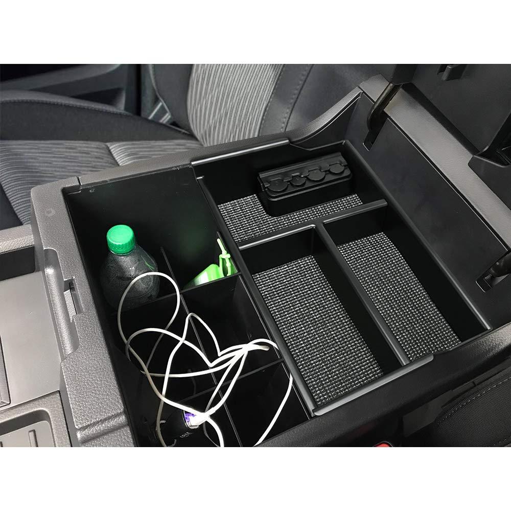JoyTutus Fits Toyota Tundra 2007 to 2019 Center Console Organizer Tray for Sequoia 2008 to 2019