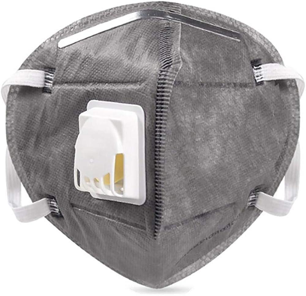 ViTho [25 unidades] KN95 Mascarilla antipolvo, mascarilla respiratoria con válvula, protección bucal con válvula contra polvo, polen, gases de escape, contaminación del aire