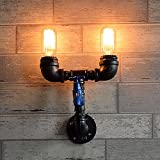 Wrought Iron Lamp Creative Retro Metal Wall Lamp Restaurant Hotel Network Bar Bar Decorative Lamps