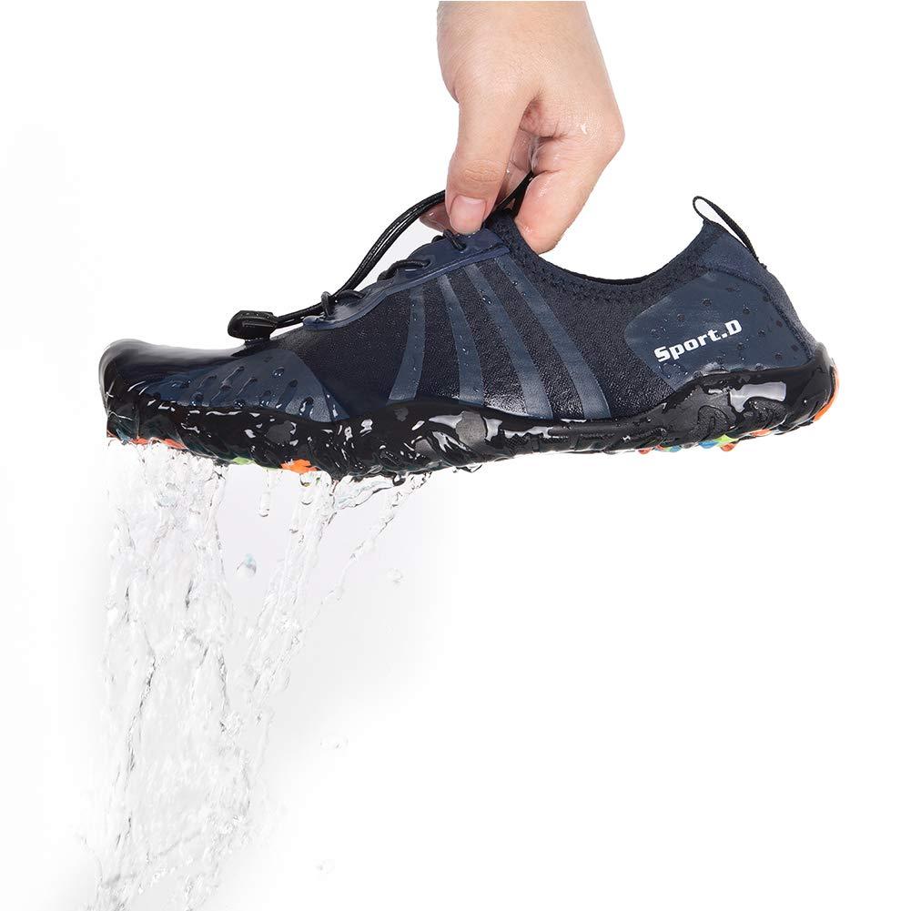 YALOX Water Shoes Men's Women's Outdoor Beach Swim Aqua Socks Quick-Dry Barefoot Shoes for Surfing Yoga Pool Exercise(8080-Blue,44EU) by YALOX (Image #6)