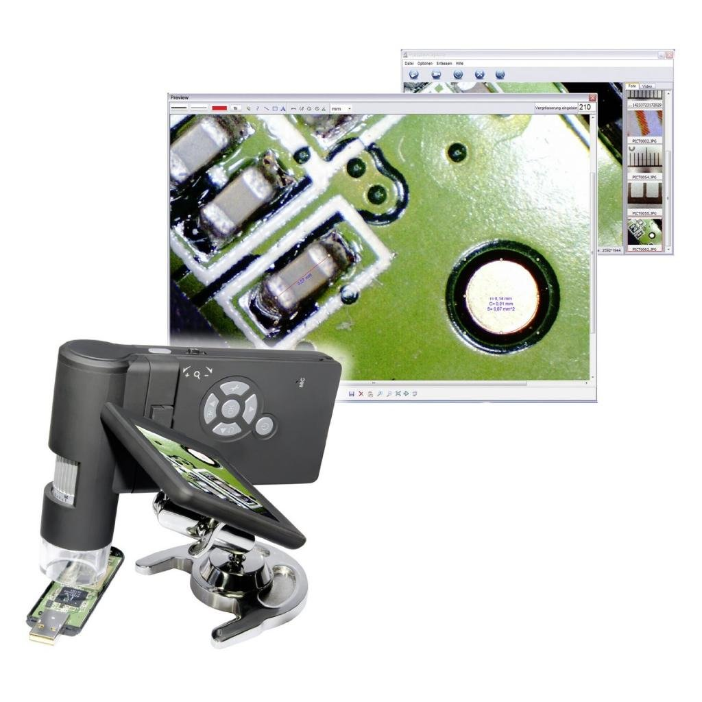 3.0'' LCD Digital Mobile Microscope/maginifier with Build-in Screen,500x