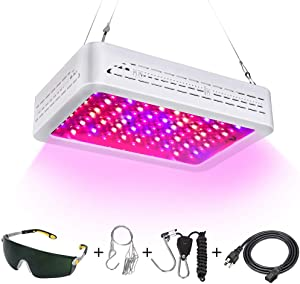 LED Grow Lights,Double Chips Led Grow Light Full Spectrum with UV and IR for Greenhouse and Indoor Plant Flowering Growing