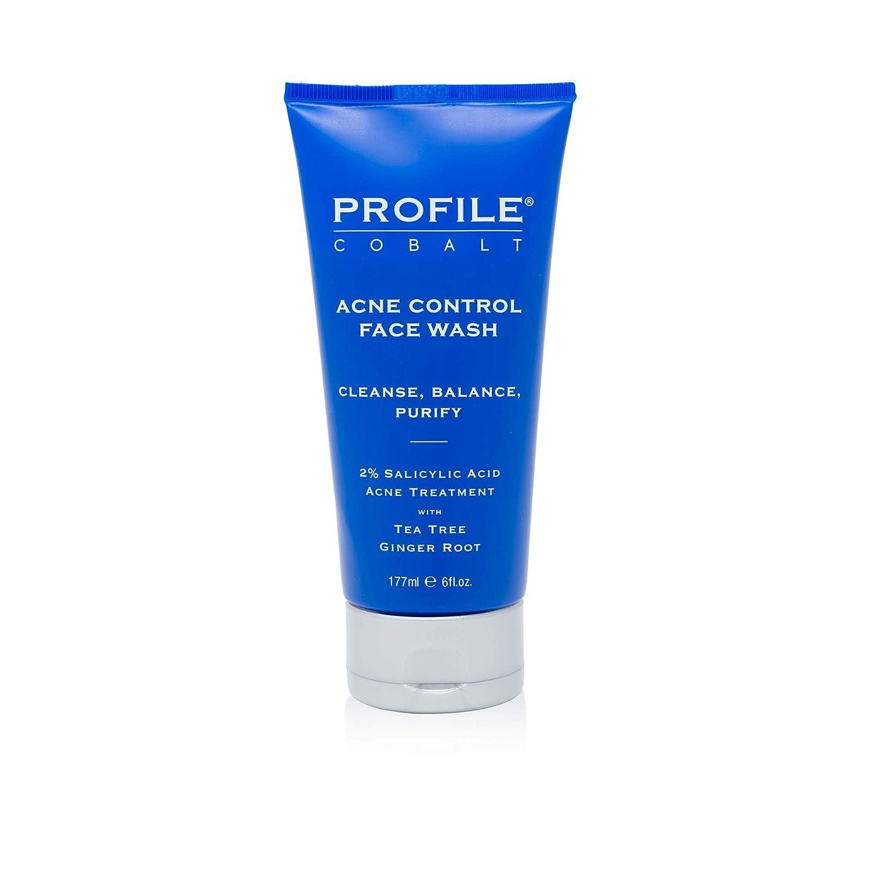 Profile   Cobalt Acne Control Face Wash for Men, 6fl oz.