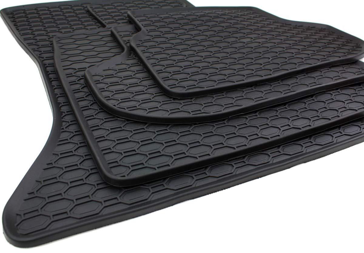 kfzpremiumteile24 tappetini in gomma zerbini Gomma nera di qualit/à originale con 4 pezzi