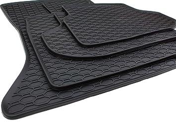 Amazon.es: kfzpremiumteile24 alfombrillas de pie de goma 4 piezas en calidad original negro