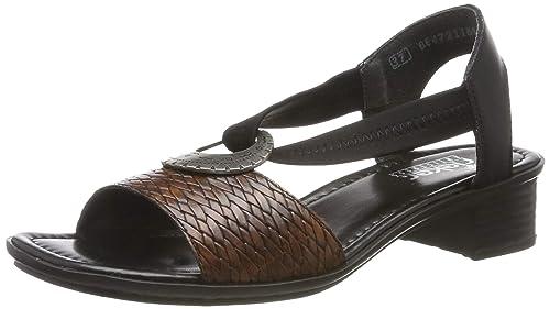 Rieker Damen Sandalette schwarz V6206 00