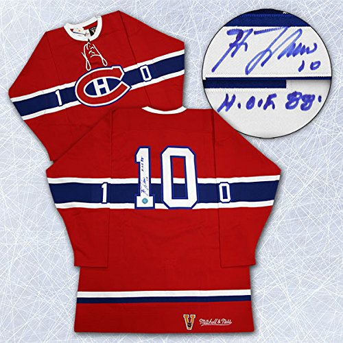 Guy-LaFleur-Montreal-Canadiens-Autographed-Mitchell-Ness-Pro-Hockey-Jersey