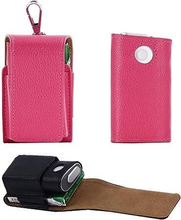 EFGS GLO Electrónico Cigarrillo Funda, Portátil Hangable Cuero Protección Estuche,6: Amazon.es: Hogar