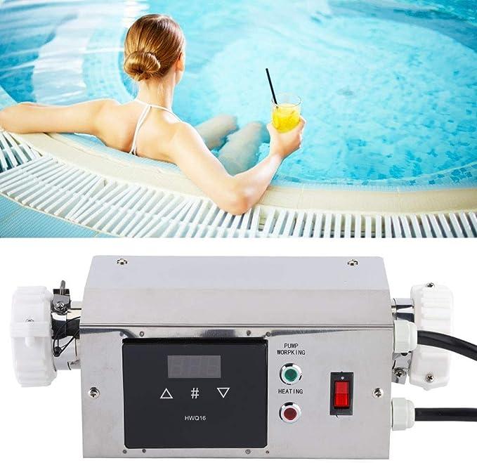 UE pour Piscine Baignoire de Massage Baignoire Spa Naroote Mini Thermostat de Chauffe-Eau 3KW