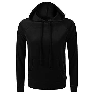 7 Encounter 7Encounter Women's Velour Pull Over Hoodie With Kangaroo Pocket Sweatshirt