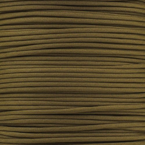 Paracord Planet 550 Cord Type III 7 Strand Paracord 100 Foot Hank - Mocha