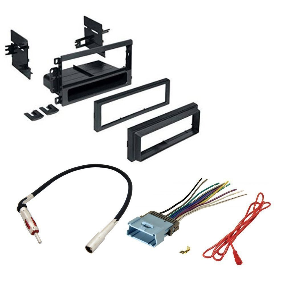 CAR Stereo CD Player Dash Install MOUNTING KIT Wire Harness Radio Antenna for Buick Cadillac Chevrolet GMC Hummer Isuzu Oldsmobile Pontiac 2002-2012
