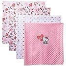 Hello Kitty Baby-Girls Newborn 4 Pack Heart Receiving Blankets