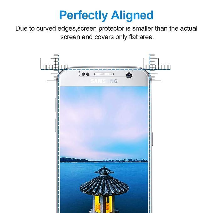 NONZERS Protector Pantalla para Samsung Galaxy S7,【3-Unidades】 Vidrio Templado para Samsung Galaxy S7,9H Dureza,Alta Definicion,Resistente a Araaozos y ...