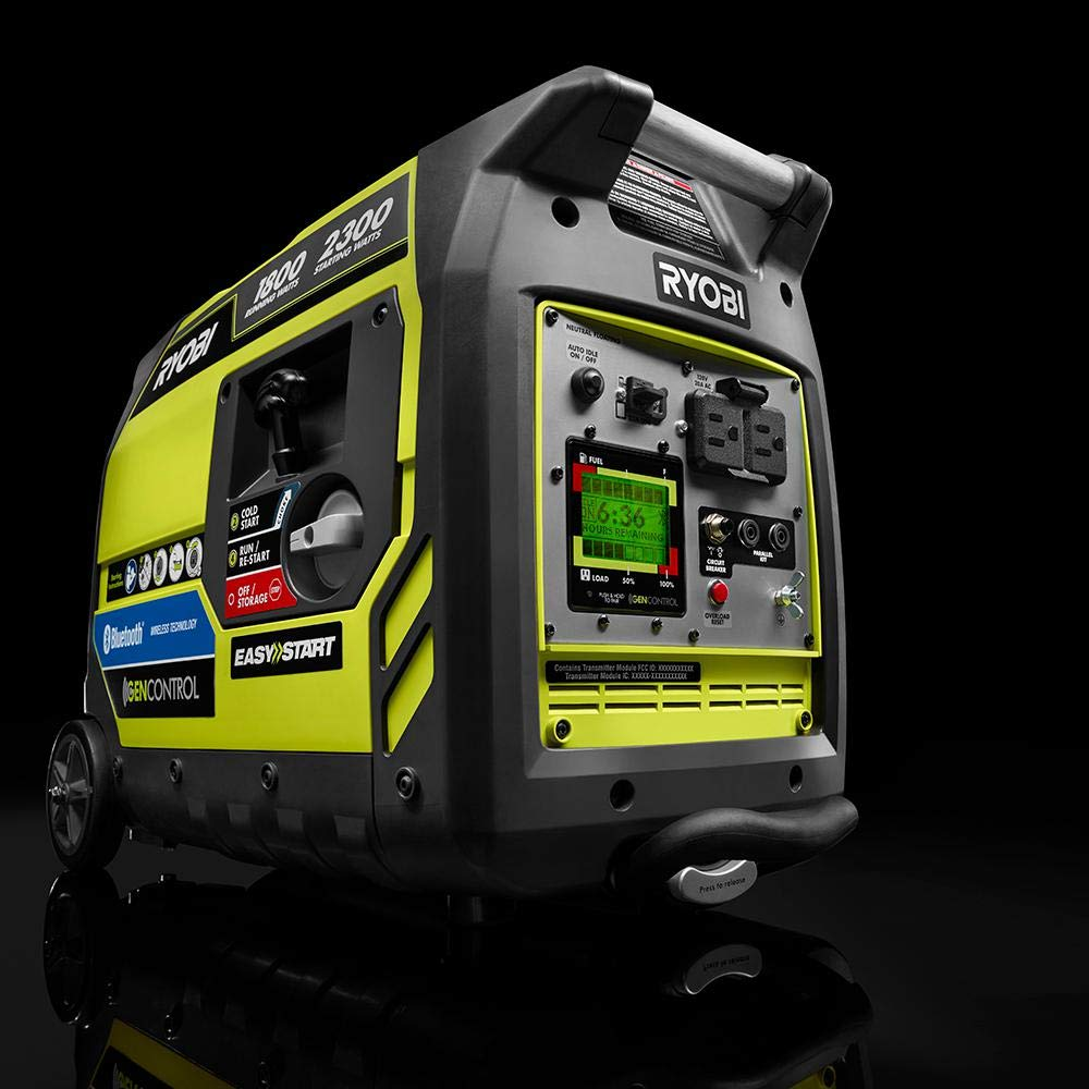 Ryobi Bluetooth 2,300-Watt Super Quiet Gasoline Powered