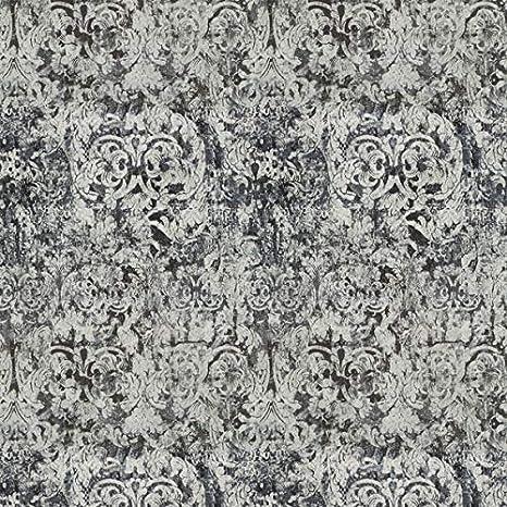 Chivasso Möbelstoff Yin Muster Abstrakt Farbe schwarz-anthrazit als robuster Bezugsstoff Polyester Polsterstoff schwarz-anthrazit Gemustert zum Nähen und Beziehen