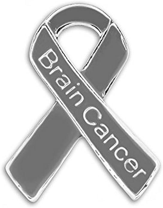 Brain Cancer Survivor Gray Grey Ribbon Cactus Type 1 or 2 Diabetes Awareness Gift Aphasia Brain Tumor Asthma Survivor Keychain