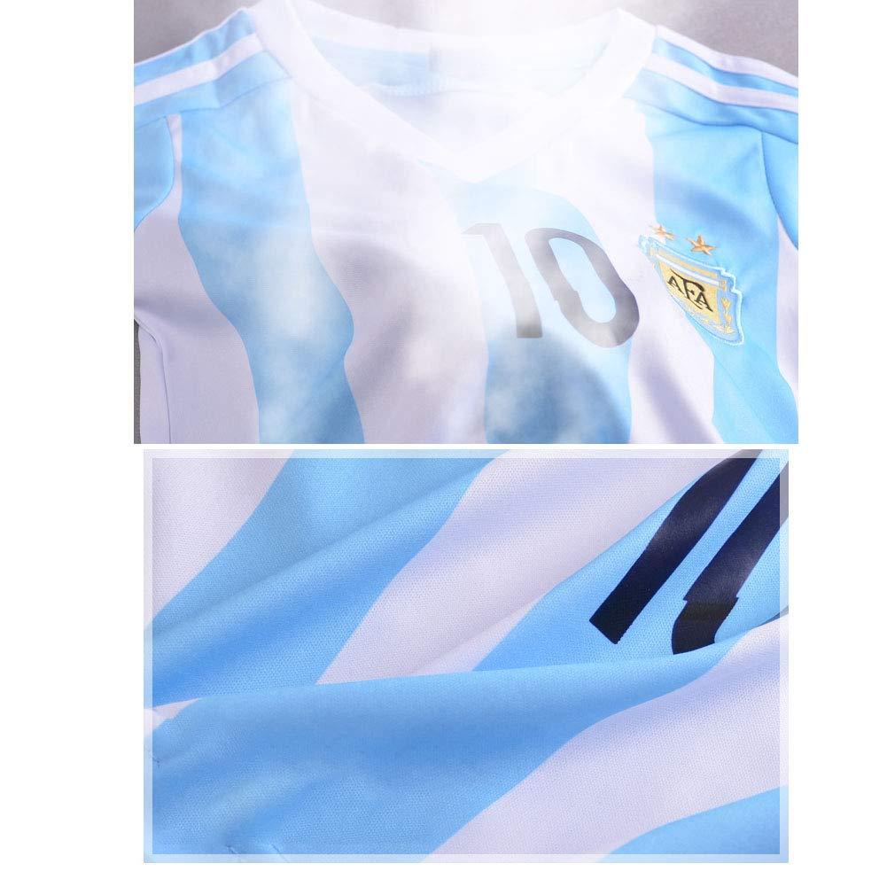 10 Neymar Argentina 2018 Jersey Maglia da Calcio per Bambino Argentina No 10 Messi Brasile No
