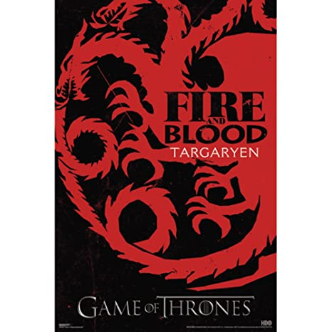 Amazon.com: Game Of Thrones Targaryen Si Póster de pared ...
