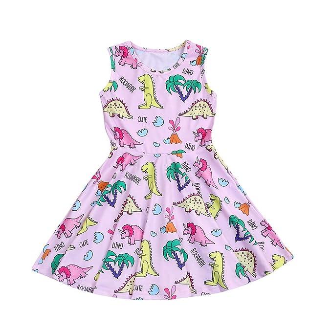 Amazon.com: Vestido de princesa con estampado de dinosaurio ...