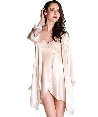 72bd1aa811d205 Kenmont Damen Bademäntel Morgenmantel Nachtwäsche kurz Sexy Kimono Negligee  Unterwäsche Dessous Pyjamas Set (M,