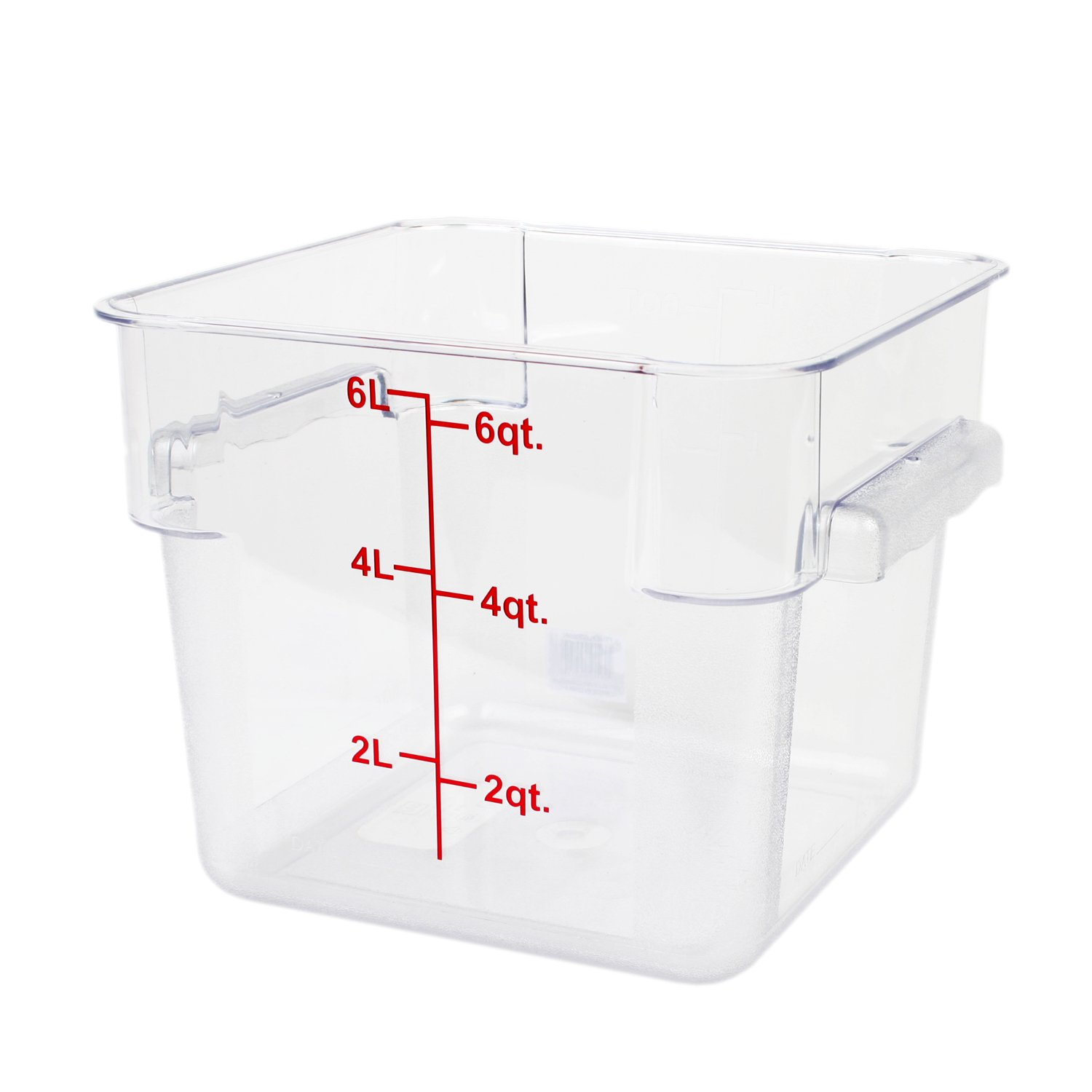 Excellante 6-Quart Polycarbonate Square Food Storage Containers, Clear