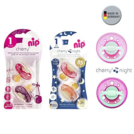NIP Day & Night chupete latex Tetina Redonda 0 a 6 meses, Pack de 6 ...
