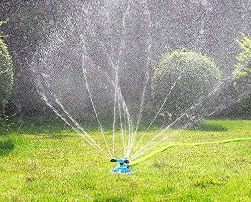 PriMI Durable Rotary Three Arm Water Sprinkler Lawn Sprinklers Water Sprinkler for Garden Lawn Kids Play