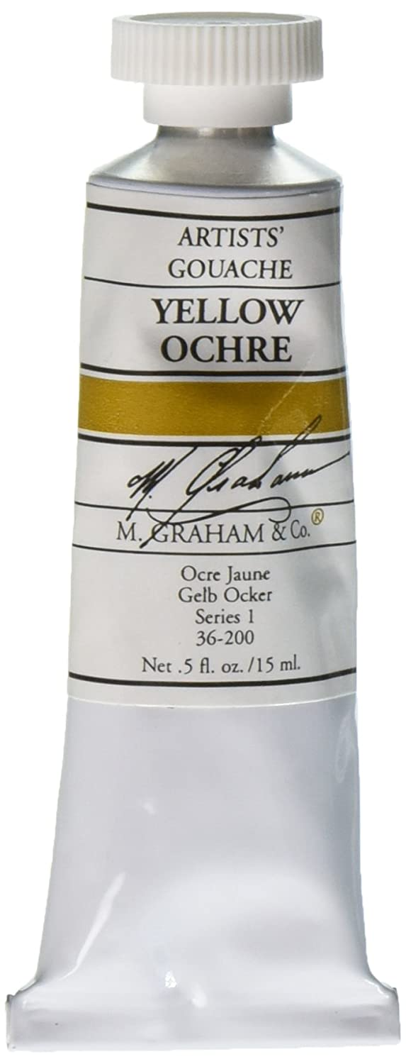 M. Graham 1/2-Ounce Tube Gouache Paint, Yellow Ochre