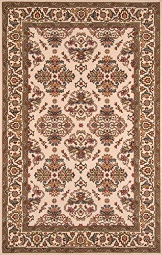 Momeni Rugs Persian Garden Collection, 100 New Zealand Wool Traditional Area Rug, 9 6 x 13 , Ivory