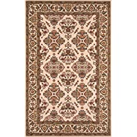 Momeni Rugs PERGAPG-01IVY3050 Persian Garden Collection, 100% New Zealand Wool Traditional Area Rug, 3 x 5, Ivory