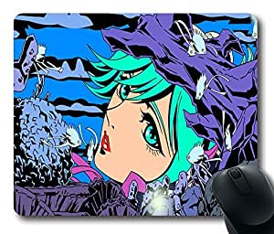 """Mermaid among the fish Top Game Mouse Pad PC Computer Gaming Mousepad Fabric + Rubber Material in 220mm*180mm*3mm (9""""*7"""") -827036"""