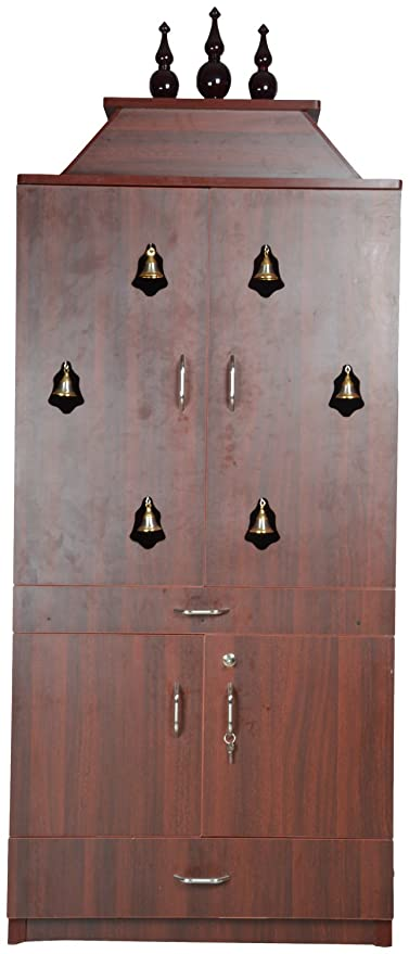 Maark Pooja Room Wardrobe Brown Amazon In Home Kitchen
