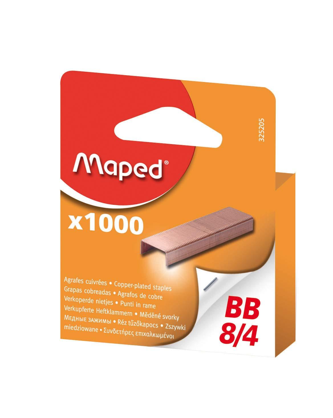 Maped 3252059Agrafes BB 8/4, cuivré, petit paquet