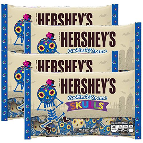 HERSHEY'S Halloween Cookies And Creme Skulls 9.8 ounce (Pack of 4) (Hershey's Cookies And Creme Halloween)