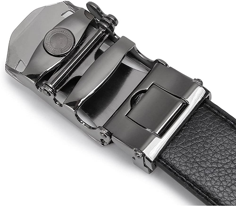 ITIEZY Mens Belt Leather Ratchet Dress Belt with Automatic Buckle Sliding Belt for Men in Gift Box